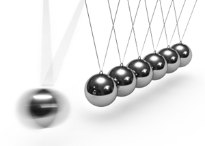 Living in a material world | Newton's cradle - physics in action