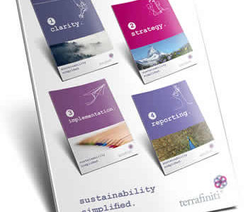 Sustainability Simplified - image of 4 steps on document cover