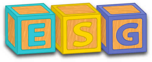 Sustainability Disclosure Grows Up - image of ESG letters in toy blocks